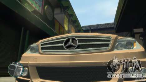 Mercedes-Benz C63 for GTA 4 right view