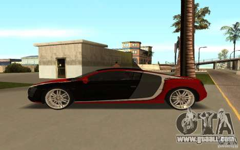 Audi R8 Le Mans Quattro for GTA San Andreas upper view