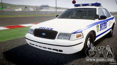 Ford Crown Victoria NYPD [ELS] for GTA 4 side view