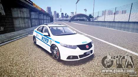 Honda Accord Type R NYPD (City Patrol 7605) ELS for GTA 4 back view