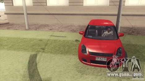 Suzuki Swift versión Chilena for GTA San Andreas back view