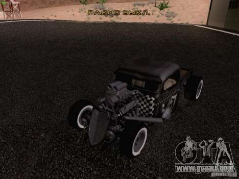 Ford Pickup Ratrod 1936 for GTA San Andreas bottom view