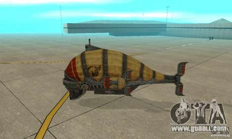 Airship of TimeShift for GTA San Andreas back left view