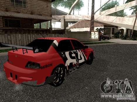 Mitsubishi Lancer Evo 8 for GTA San Andreas back view