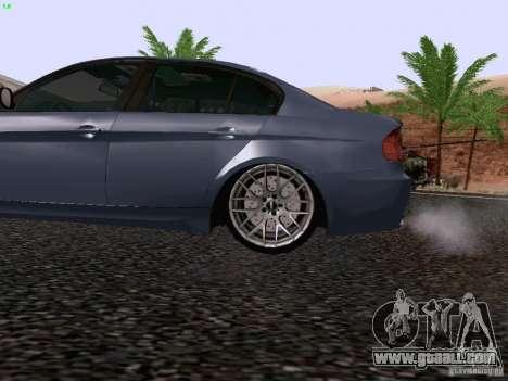 BMW M3 E90 Sedan 2009 for GTA San Andreas back view