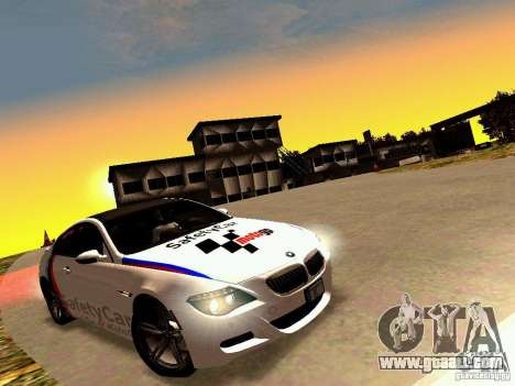 BMW M6 MotoGP SafetyCar for GTA San Andreas inner view