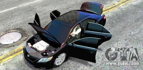 Toyota Camry V6 3.5 2007 for GTA 4 inner view