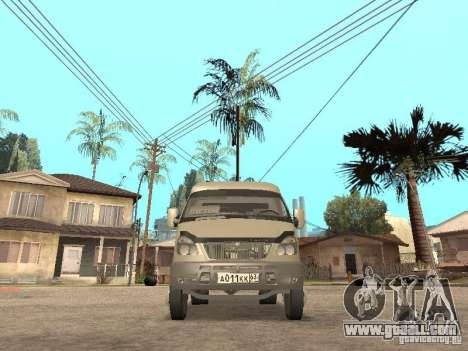 Gazelle 2705 for GTA San Andreas back view