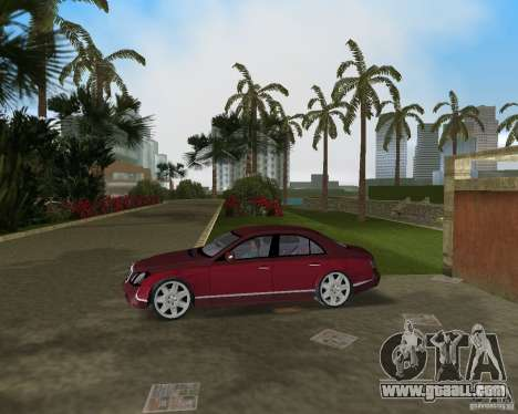 Maybach 57 for GTA Vice City back left view