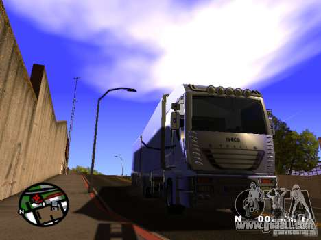Iveco Stralis for GTA San Andreas back left view