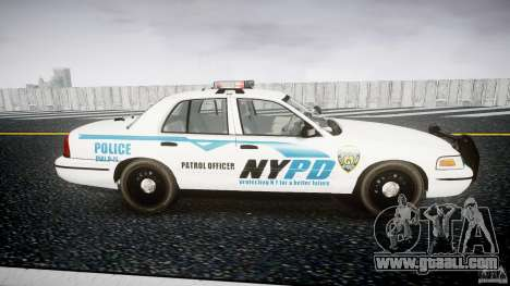 Ford Crown Victoria v2 NYPD [ELS] for GTA 4 inner view