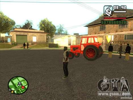 Tractor for GTA San Andreas left view