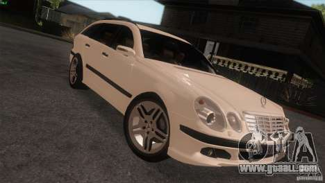 Mercedes-Benz E55 AMG for GTA San Andreas right view