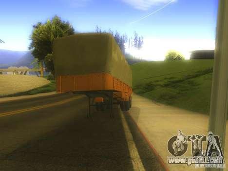 Trailer MAZ 5205 for GTA San Andreas left view