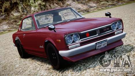 Nissan Skyline 2000 GT-R for GTA 4 upper view