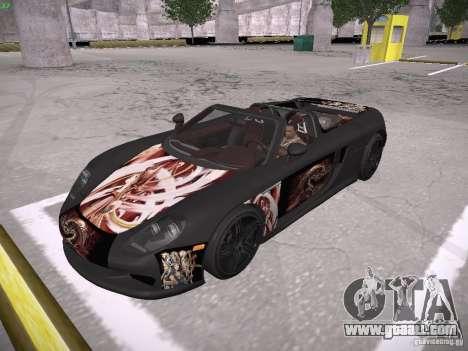 Porsche Carrera GT for GTA San Andreas bottom view