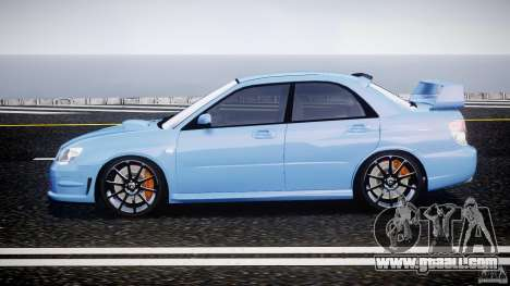 Subaru Impreza STI for GTA 4 left view