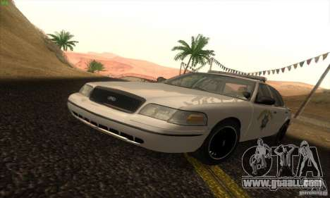 Ford Crown Victoria California Police for GTA San Andreas
