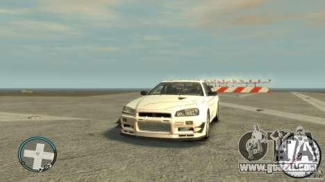 Nissan Skyline GTR R34 Mine s for GTA 4