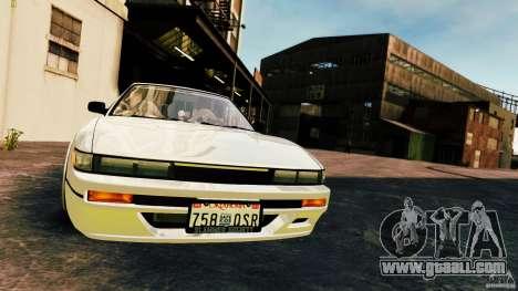 Nissan Silvia S13 Cabrio for GTA 4 upper view