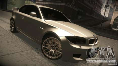 BMW 1M E82 Coupe 2011 V1.0 for GTA San Andreas back view