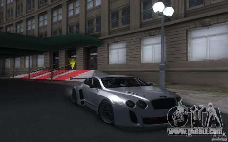 Bentley Continental Super Sport Tuning for GTA San Andreas back left view