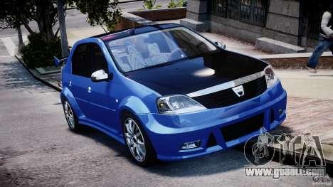 Dacia Logan 2008 [Tuned] for GTA 4 inner view