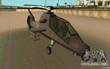 Sikorsky RAH-66 Comanche default grey for GTA San Andreas back left view