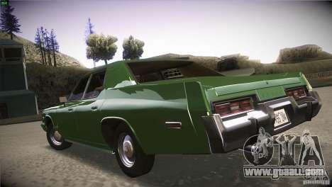 Dodge Monaco for GTA San Andreas back view