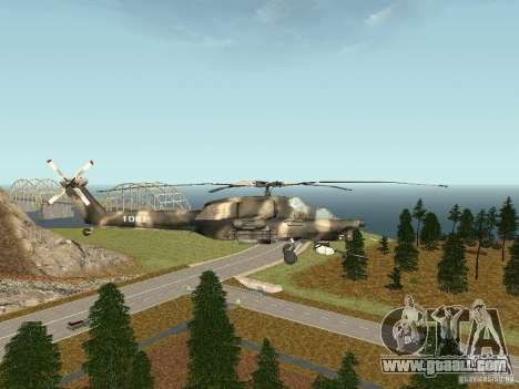 MI 28 HAVOC for GTA San Andreas left view