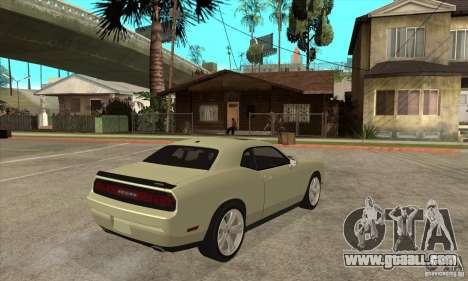 Dodge Challenger SRT8 2009 for GTA San Andreas right view