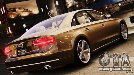 Audi A8 2010 V8 FSI for GTA 4 back view