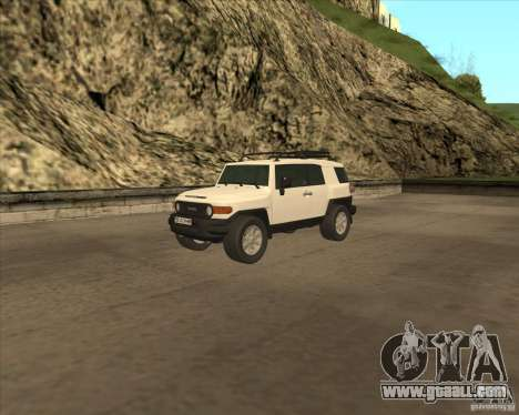 Toyota FJ Cruiser for GTA San Andreas bottom view