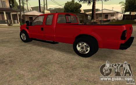 Ford F250 Super Dute for GTA San Andreas left view