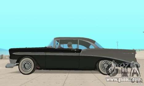Chevrolet Bel Air 1956 for GTA San Andreas back left view
