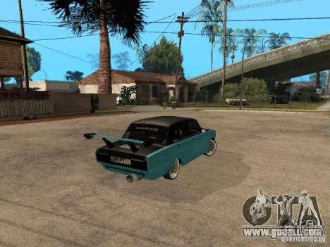 Lada Vaz 2107 Drift for GTA San Andreas back left view