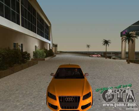 Audi S5 for GTA Vice City left view