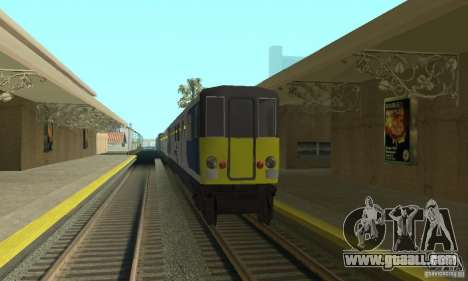 Cerberail Train for GTA San Andreas left view