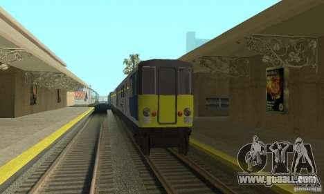 Cerberail Train for GTA San Andreas left view