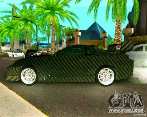 Toyota Supra Carbon for GTA San Andreas back left view