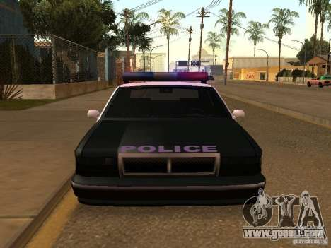 The advantage of police vehicle for GTA San Andreas