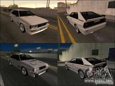 Audi Quattro for GTA San Andreas upper view