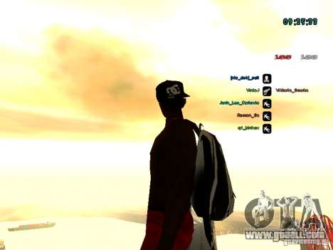 Knapsack-parachute for GTA: SA for GTA San Andreas fifth screenshot