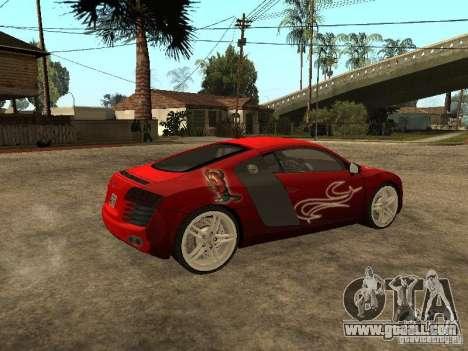 Audi R8 for GTA San Andreas interior