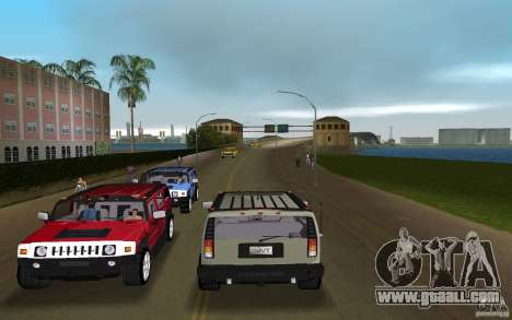AMG H2 HUMMER for GTA Vice City back left view