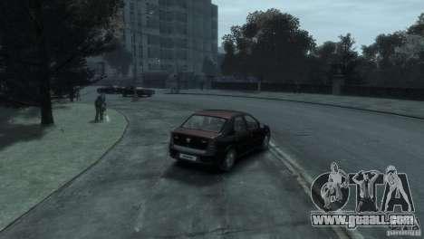 RENAULT LOGAN for GTA 4 back view