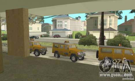 Land Rover Defender 110SW Taxi for GTA San Andreas right view