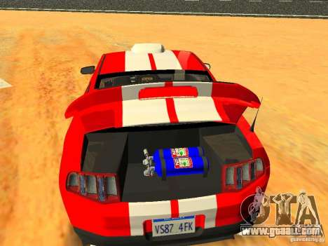 Ford Shelby GT500 for GTA San Andreas engine