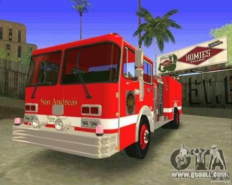 Pumper Firetruck Los Angeles Fire Dept for GTA San Andreas inner view