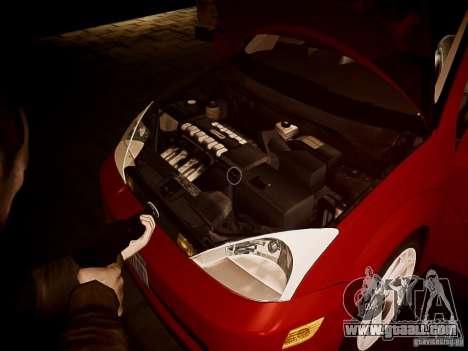 Ford Focus SVT 2003 for GTA 4 inner view